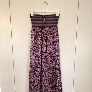 Silky violet maxi dress (small)